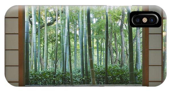 Okochi Sanso Villa Bamboo Garden Phone Case by Rob Tilley