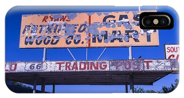 Timeworn iPhone Case - Old 66 Trading Post by Garry Gay