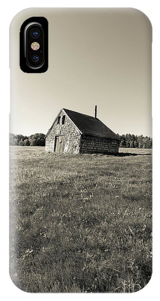 New England Barn iPhone Case - Old Abandoned Farm Building by Edward Fielding