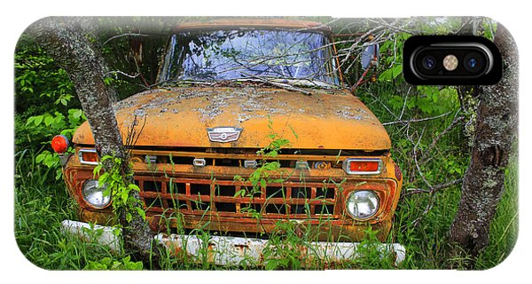 Old Abandoned Ford Truck In The Forest IPhone Case