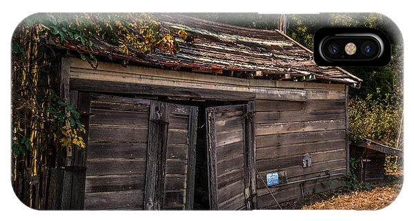 Old Abandoned Shed Sonoma County IPhone Case