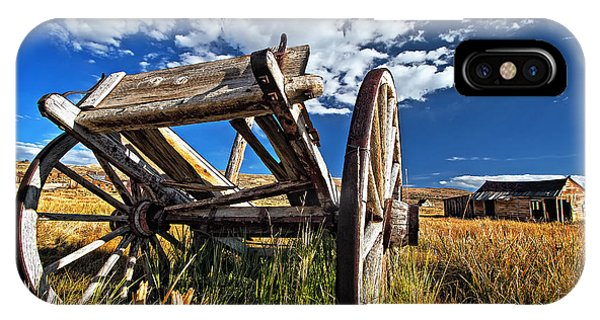 Old Abandoned Wagon, Bodie Ghost Town, California IPhone Case