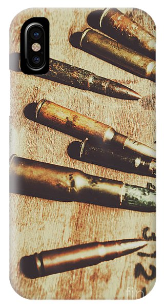 Angle iPhone X Case - Old Ammunition by Jorgo Photography - Wall Art Gallery