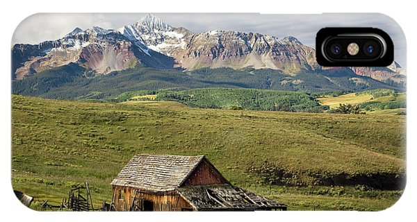 Old Barn And Wilson Peak Horizontal IPhone Case