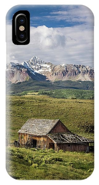 Old Barn And Wilson Peak Vertical IPhone Case