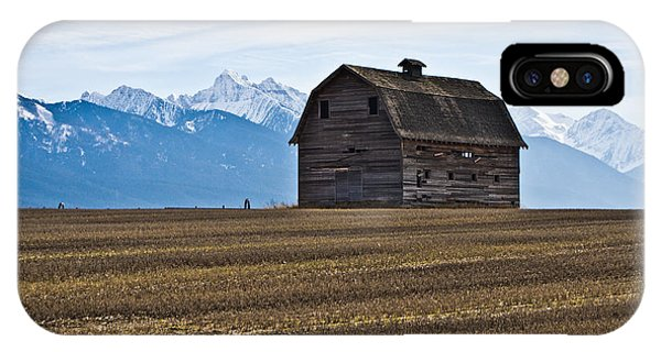 Old Barn, Mission Mountains 2 IPhone Case