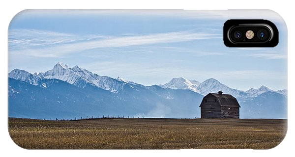 Old Barn, Mission Mountains IPhone Case