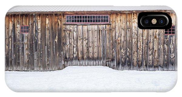 New England Barn iPhone Case - Old Barn Musterfield Farm by Edward Fielding