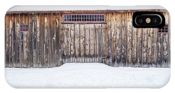 IPhone Case featuring the photograph Old Barn Musterfield Farm by Edward Fielding