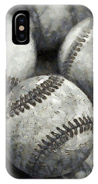 Old Baseballs Pencil IPhone Case