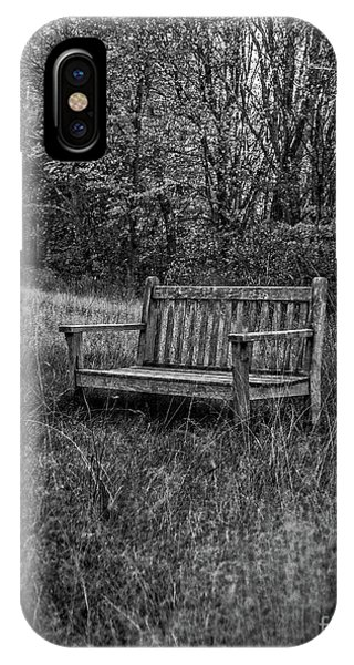 Old Bench Concord Massachusetts IPhone Case