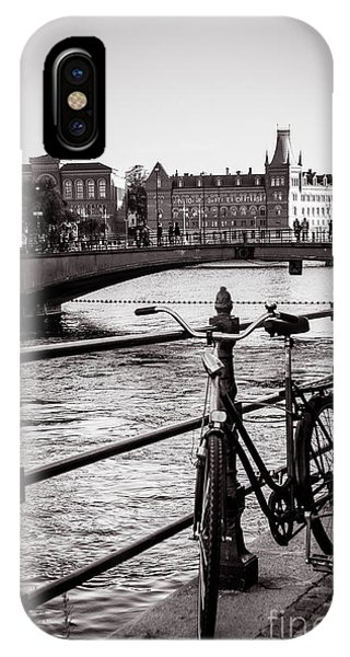 Old Bicycle In Central Stockholm IPhone Case