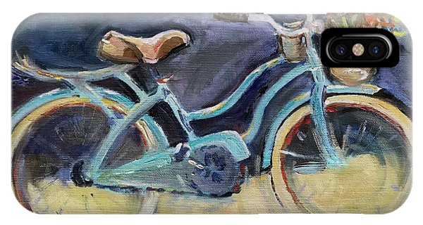 iPhone Case - Old Blue Bicycle  by Maria Reichert