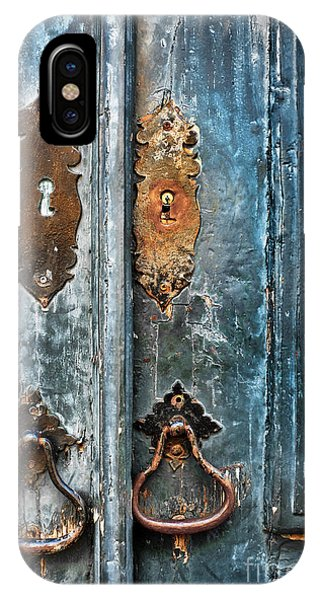 Poverty iPhone Case - Old Blue Door by Carlos Caetano
