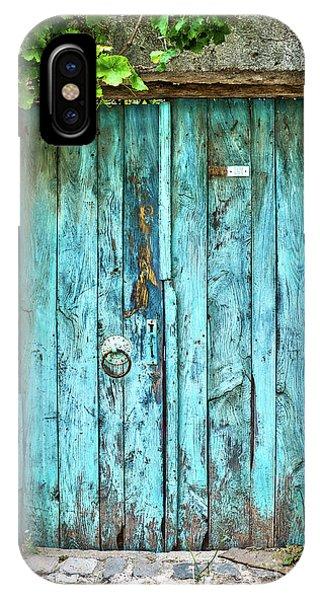 Old Blue Door IPhone Case