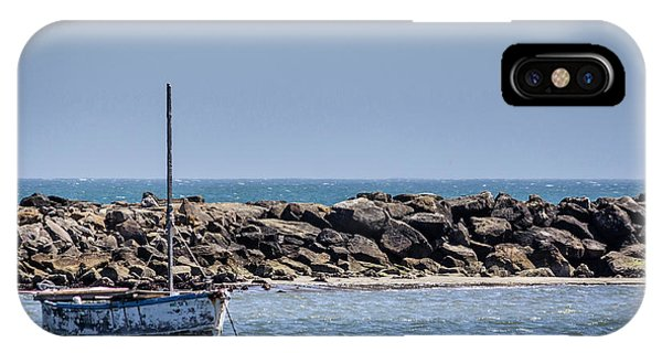 Old Boat - Half Moon Bay IPhone Case