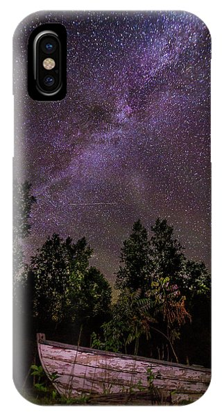 Old Boat Under The Stars IPhone Case