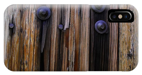 Old Door With Bolts And Nails IPhone Case