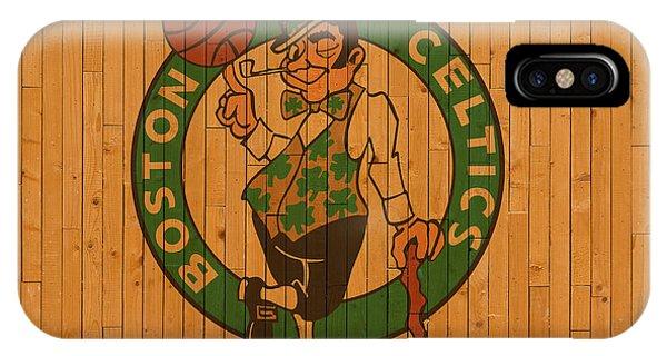 Celtics iPhone Case - Old Boston Celtics Basketball Gym Floor by Design Turnpike