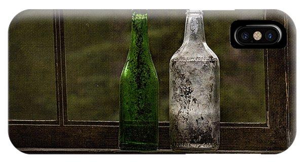 Old Bottles In Window IPhone Case