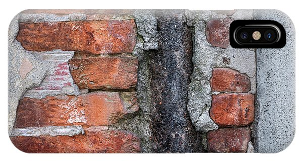 Cement iPhone Case - Old Brick Wall Abstract by Elena Elisseeva