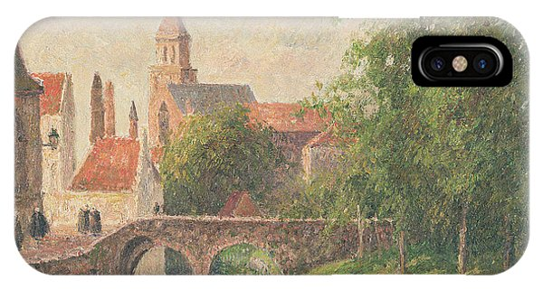 Town iPhone Case - Old Bridge In Bruges  by Camille Pissarro
