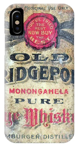 Whiskey iPhone Case - Old Bridgeport Rye Whiskey by Jon Neidert