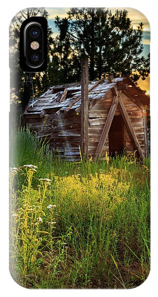 Old Cabin At Sunset IPhone Case