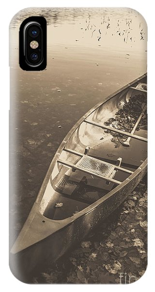 Old Canoe On A Lake Eastman Pond Grantham New Hampshire IPhone Case