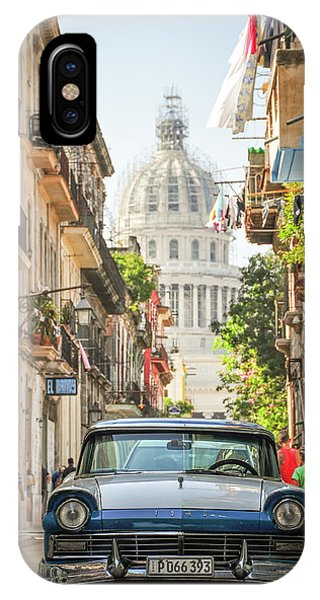 Old Car And El Capitolio IPhone Case