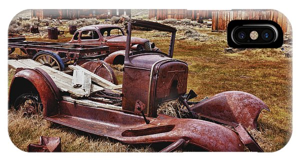 Bodie Ghost Town iPhone Case - Old Cars Bodie by Garry Gay