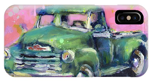Old Chevy Chevrolet Pickup Truck On A Street IPhone Case