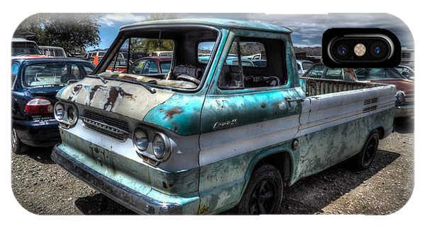Corvair iPhone Case - Old Chevy Corvair Truck by Lori Shoaf