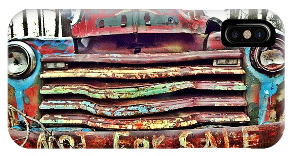 Old Chevy Truck With Graffiti IPhone Case