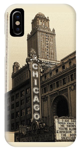 Old Chicago Theater - Vintage Art IPhone Case