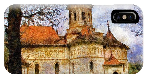Old Church With Red Roof IPhone Case