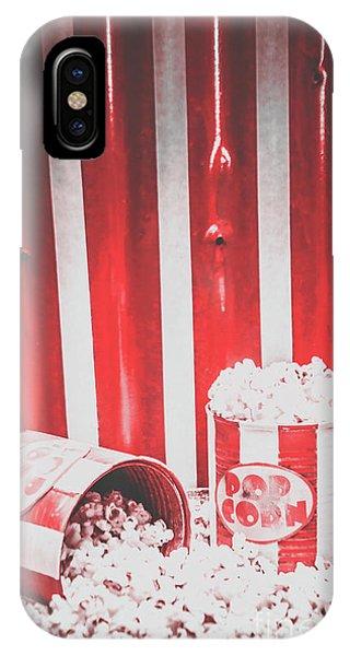 Movie iPhone Case - Old Cinema Pop Corn by Jorgo Photography - Wall Art Gallery