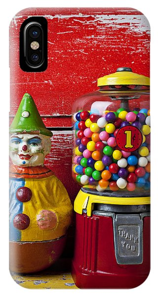 Dispenser iPhone Case - Old Clown Toy And Gum Machine  by Garry Gay