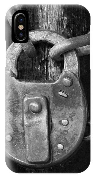 Old Corbin Padlock IPhone Case