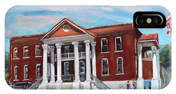 Courthouse iPhone Case - Old Courthouse In Ellijay Ga - Gilmer County Courthouse by Jan Dappen