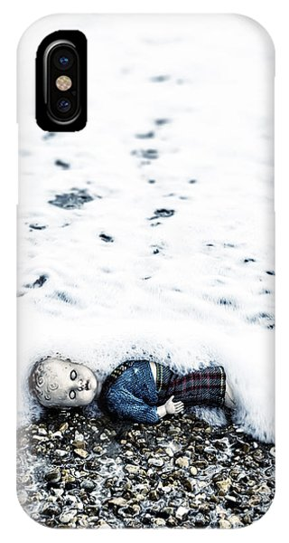 Drown iPhone Case - Old Doll On The Beach by Joana Kruse