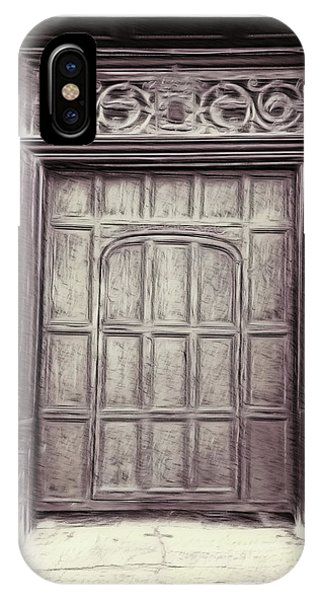 Digital Effect iPhone Case - Old Door Painting by Tom Gowanlock