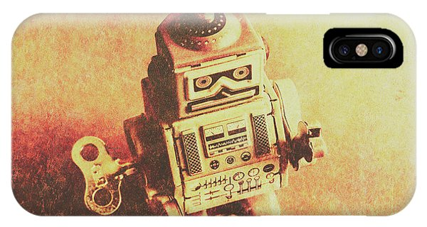 Robot iPhone Case - Old Electric Robot by Jorgo Photography - Wall Art Gallery
