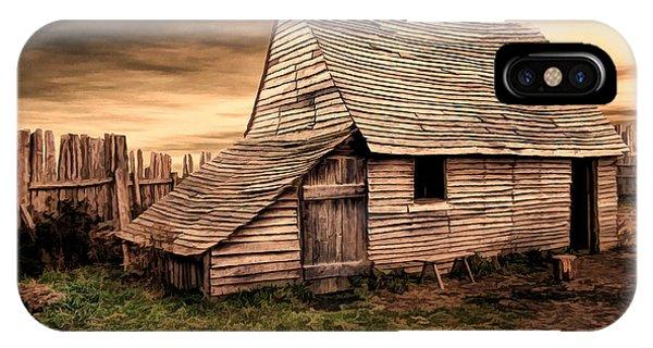 New England Barn iPhone Case - Old English Barn by Lourry Legarde