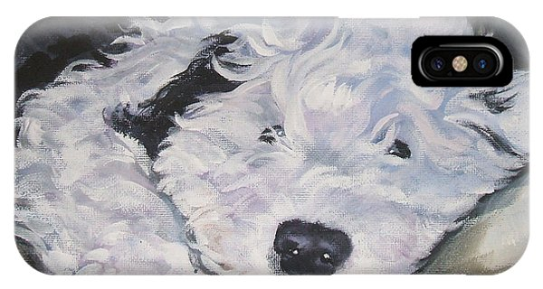 Pup iPhone Case - Old English Sheepdog Pup by Lee Ann Shepard