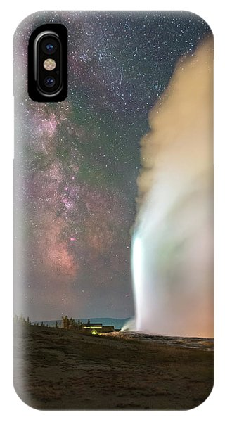 Old Faithful Erupts At Night IPhone Case