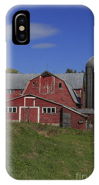 New England Barn iPhone Case - Old Family Farm Vermont by Edward Fielding