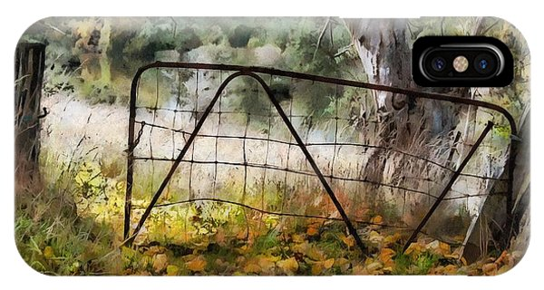 Old Farm Gate IPhone Case