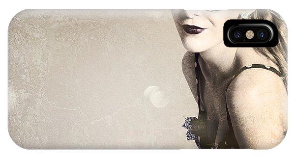 Timeworn iPhone Case - Old Fashion Rockabilly Girl by Jorgo Photography - Wall Art Gallery