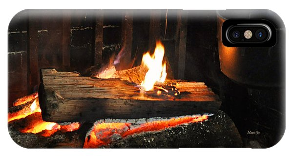 Old Fashioned Fireplace IPhone Case
